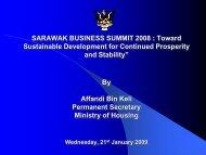 HOUSING DEVELOPMENT IN SARAWAK SUNDAY, 26 OCTOBER ...
