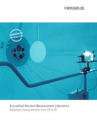 Accredited Heraeus Measurement Laboratory ... - Heraeus Noblelight