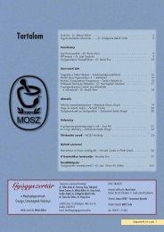 Tartalom - Magángyógyszerészek Országos Szövetsége