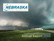 2008 Annual Report - Nebraska Emergency Management Agency ...