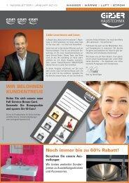 dazu im Newsletter Januar 2010 - GIPSER Haustechnik