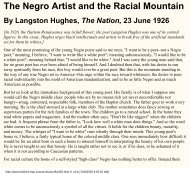 Langston Hughes, The Negro Artist and the ... - Azinga Cartoons