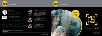 Encloser Window Locks - Yale Door and Window Solutions, Locks ...