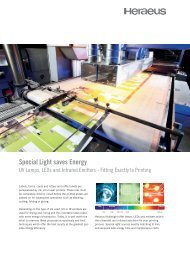 Produktname Special Light saves Energy - Heraeus Noblelight