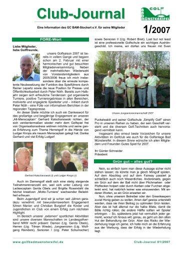 Club-Journal - Januar 2007 - Golf Bad Münstereifel