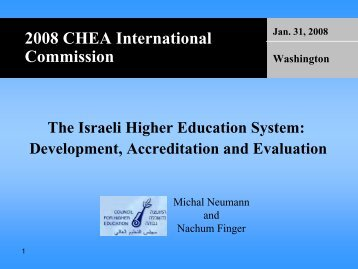 The Israeli Higher Education System - Council for Higher Education ...