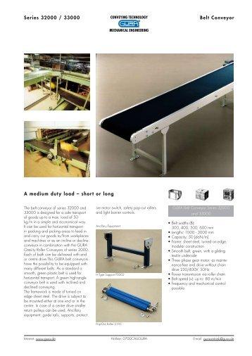 Series 32000 / 33000 Belt Conveyor A medium duty load – short or ...