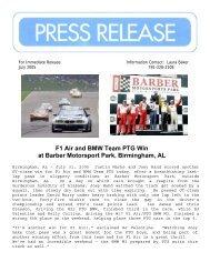 F1 Air and BMW Team PTG Win at Barber Motorsport Park ...