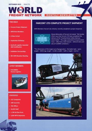 FARCONT LTD COMPLETE PROJECT SHIPMENT - WFN