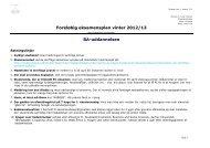 Foreløbig eksamensplan vinter 2012/13 BA-uddannelsen