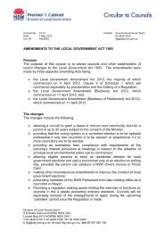 Amendments To The Local Government Act 1993 - Division of Local ...