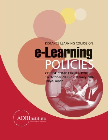 e-Learning Policies Course - Asian Development Bank Institute