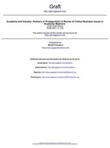 Academia and Industry: Partners or Protagonists? A Review of ...