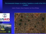 Environmental changes in northern Uganda as a result of the LRA ...
