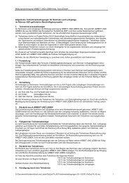 AGB / Teilnahmebedingungen - Projekt PeQua - Arbeit und Leben