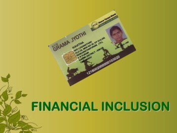 FINANCIAL INCLUSION - Karur Vysya Bank