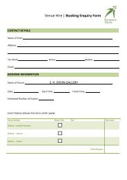 Venue Hire   Booking Enquiry Form