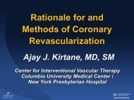 Rationale for and Methods of Coronary Revascularization ...