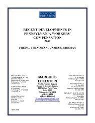 Compensation Newsletter - Spring 2008 - Margolis Edelstein