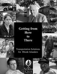 Getting from Here to There - Rhode Island Chapter - Sierra Club