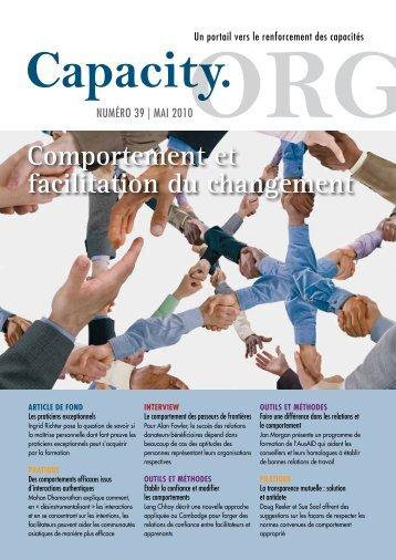 Comportement et facilitation du changement - Capacity.org