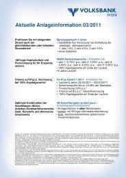 Aktuelle Anlageinformation 03/2011 - Volksbank Wien AG
