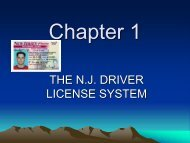 Chapter 1 - The NJ Driver License System - Teacher Notes
