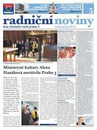 Radniční noviny - květen 2012 - Praha 3