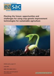 Planting the future: opportunities and challenges for using ... - EASAC