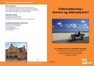 Videreutdanning i demens og alderspsykiatri