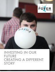 investing in our future creating a different story - The Foyer Federation