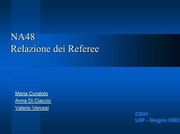 NA48 Relazione dei Referee - Infn