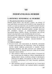 XII FIZIOPATOLOGIA DURERII
