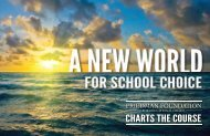 charts the course - The Friedman Foundation For Educational Choice