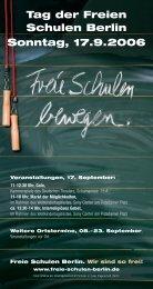 Tag der Freien Schulen Berlin Sonntag, 17.9.2006 - Freie Schulen ...