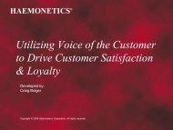 Who is Haemonetics - Omega Management Group