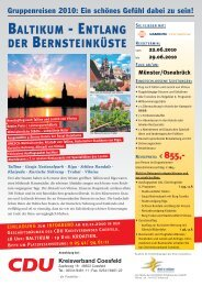 baltikum - entlang der bernsteinküste - (CDU) Kreisverband Coesfeld