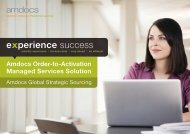 Amdocs Order-to-Activation Managed Services Solution