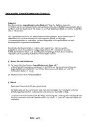 Satzung zum download - JFV Stade eV