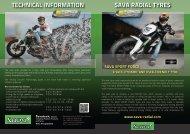 SAVA RADIAL TYRES TECHNICAL INFORMATION - Savatech