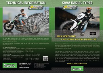 SAVA RADIAL TYRES TECHNICAL INFORMATION - Savatech