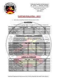 cuotas feajjyda – 2013 - Federación Española A. de Jiu Jitsu y DA