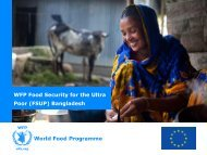 WFP Food Security for the Ultra Poor (FSUP) Bangladesh - Shiree