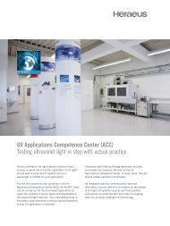 UV Applications Competence Center (ACC ... - Heraeus Noblelight