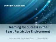Teaming For Success in the LRE Part 1 - The Arc of Texas
