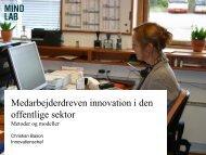 Medarbejderdreven innovation i den offentlige ... - Erhvervsstyrelsen