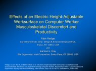 Effects of an electric height-adjustable worksurface - Cornell ...