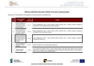 Definicje wskaźników dla pomiaru efektów rzeczowych realizacji ...