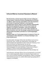 Infrarot-Wärme trocknet Nasslack effizient - Heraeus Noblelight