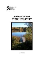 Riktlinjer för enskilda avlopp_2009 - Sundsvall